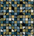 Geometric colorful squared maze background vector image vector image