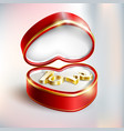 gift-box-in-heart-shape vector image vector image