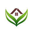 Green home residence estate logo icon