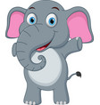 happy baby elephant cartoon vector image vector image