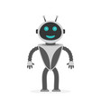 happy robot isolated vector image