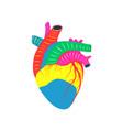 human heart artistic cardiac love and life vector image vector image