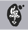 i love coffee in a speech bubble vector image vector image
