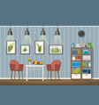 interior equipment of a classic living room vector image