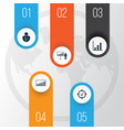 management icons set collection of project vector image