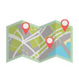 map location cartoon vector image