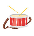 music instrument - drum vector image