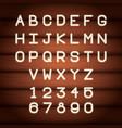 neon lights alphabet font vector image