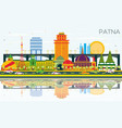 patna india city skyline with color buildings vector image vector image