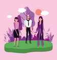 people characters business flat design vector image