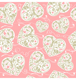 Pink and beige pattern vector image vector image