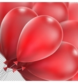 Realistic red balloons EPS 10 vector image vector image