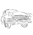 Retro car or Vintage on a white background vector image vector image