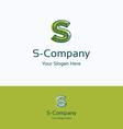 S company logo vector image vector image