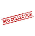 scratched textured eco collection stamp seal vector image