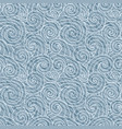 seamless abstract wave pattern gray curl vector image