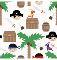 Seamless pirate colorful kids retro pattern vector image vector image
