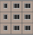 seamless unified panel house with tiled facade vector image vector image