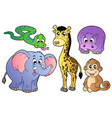 set of cute african animals vector image
