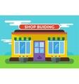 Shop buildings vector image vector image