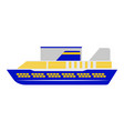 side view of a vacation cruise vector image