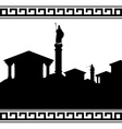 silhouette of ancient city vector image vector image