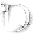 Sketch font Letter D vector image