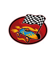 Soap box derby racing with race flag vector image vector image