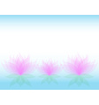 Soft waterlily card vector image