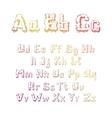 trees alphabet vector image vector image