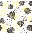 trendy abstract yellow and grey waterlilies or vector image