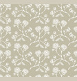 vintage rose seamless pattern vector image vector image