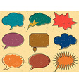 Vintage speech bubbles vector image vector image