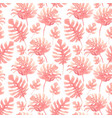 watercolor tropical palm leaf pattern vector image