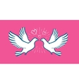 White dove flying Wedding love symbol vector image