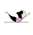 woman practicing yoga vector image vector image