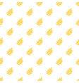 yellow rowan leaf pattern seamless vector image