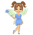 Beautiful cute girl dressed in fairy cosume vector image