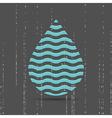 Creative symbol of water drop vector image