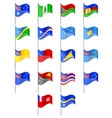 flags of Oceania countries vector image