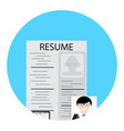 search for employee human resource vector image