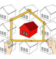 A custom home vector image