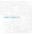 abstract background white gray 3d cubes vector image vector image
