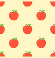apple seamless pattern for use as wrapping paper vector image vector image