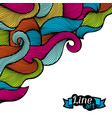 background with curls and waves abstract outline vector image vector image
