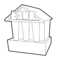 Bank icon outline style vector image vector image