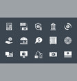 banking icons set related glyph icons vector image vector image