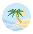 beach theme of the wave vector image vector image