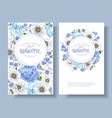 blue anemone round banners vector image vector image