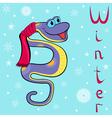 Boa winter vector image